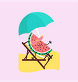 summer sweets color fruit design icon vector image