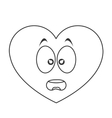 surprised heart cartoon icon vector image vector image