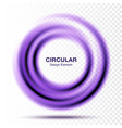 swirle gradient round banner vector image vector image