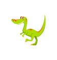 t-rex dino isolated green tyrannosaurus dinosaur vector image vector image