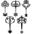 tattoo keys vector image