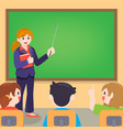 teacher and student on lesson at classroom vector image