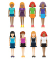 Templates of faceless girls vector image vector image