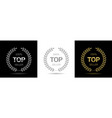 top rated seller wreath label set vector image