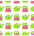 toy kettle and fish seamless pattern vector image