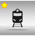 train black icon button logo symbol concept vector image