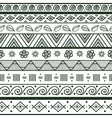Tribal striped hand drawn seamless pattern vector image vector image