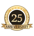 Twenty Five Year Anniversary Badge vector image vector image