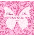 Wedding invitation waves background witn butterfly vector image vector image