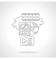 Movie playback detailed line icon vector image