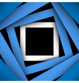 Blue paper square and frame background vector image