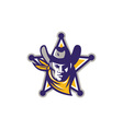 Sheriff Cowboy Star Badge Retro vector image