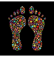 footprint shape vector image