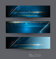 abstract banners set with image arrow sign vector image vector image