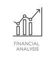 accounting financial analysis research and vector image