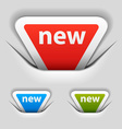 attached new triangle labels vector image vector image