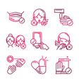 avoid and prevent spread covid19 icons gradient vector image vector image