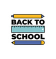 back to school web banner colorful pencils eps10 vector image vector image
