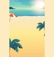 background for summer beach vacation vector image