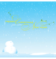 Background snow season on Christmas vector image vector image