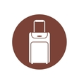 baggage suitcase travel brown circle vector image