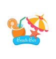beach bar summer vacation vector image vector image