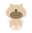 bear toy icon on white vector image