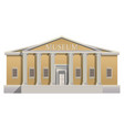 big building with columns in simple cartoon style vector image vector image