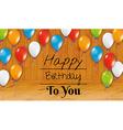 birthday card happy birthday room vector image vector image