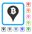 bitcoin marker framed icon vector image vector image