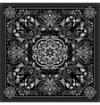 Black and white ornamental square with paisley vector image
