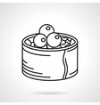 Black line icon for sushi roll vector image vector image
