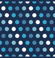 blue polka dots background vector image vector image