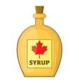 Bottle of maple syrup icon cartoon style vector image