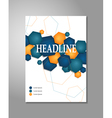 Brochure design - hexagon vector image