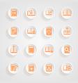 button shadows Book icons vector image