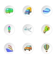 Carriage services icons set cartoon style vector image vector image