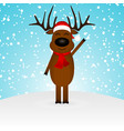 cartoon funny reindeer in a scarf for christmas vector image vector image