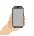 cellphone on a hand vector image