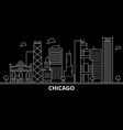 chicago city silhouette skyline usa - chicago vector image vector image