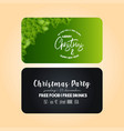 christmas party banner template vector image vector image