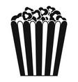 cinema popcorn box icon simple style vector image vector image