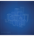 City blueprint vector image vector image