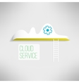 Cloud service icon with a ladder Network vector image