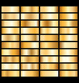 collection golden metallic gradient brilliant vector image