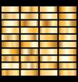 collection of golden metallic gradient brilliant vector image vector image
