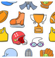 collection of sport object doodle style vector image vector image