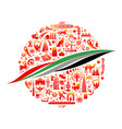 color background united arab vector image vector image