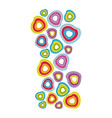 colored hearts background icon vector image vector image