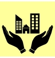 Concept icon with hands vector image